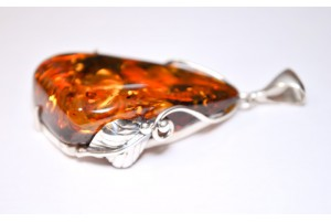 amber and sterling silver pendant 3