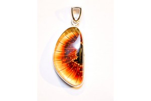 amber and sterling silver pendant 5