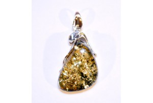amber and sterling silver pendant 6