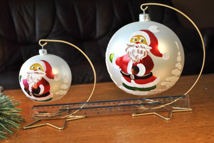 smaller glass christmas baubles - Cheap Large Christmas Decorations